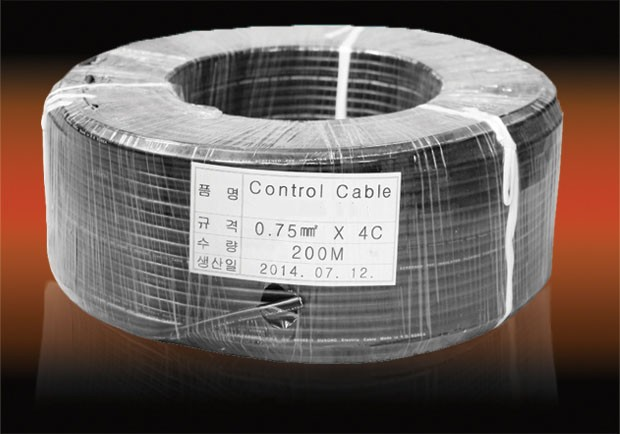 Control cable 0.75mm2x4c