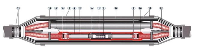 Hộp nối cáp ngầm 24KV XLPE
